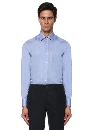 Slim Fit İngiliz Yaka Gömlek-Beymen Club